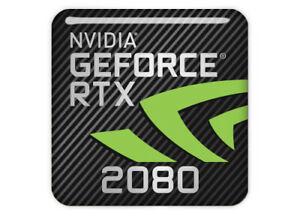 Sigle / Logo de la carte graphique Nvidia Geforce RTX 2080 pour la réalité virtuelle