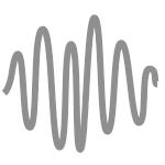 Pictogramme de la diffusion du son et de la sonorité représentée par une courbe sinusoïdale.