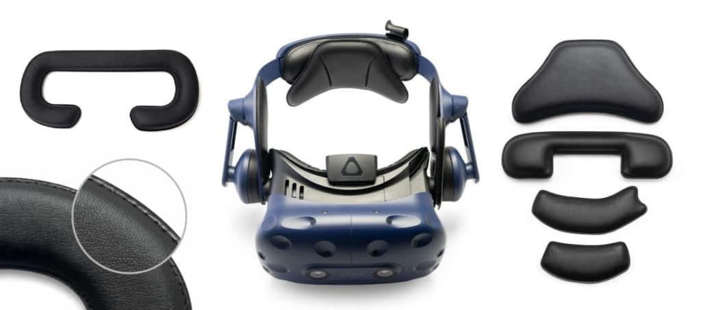 Kit de remplacement des mousses HTC VIVE PRO complet.