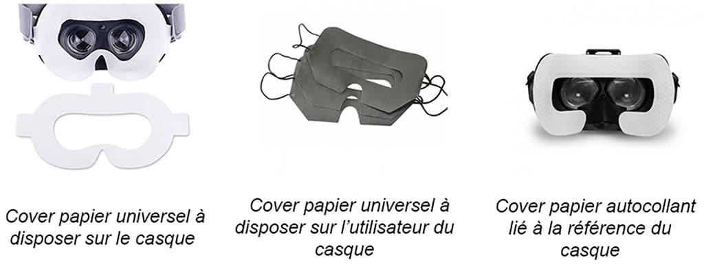 Images d'équipements sanitaires jetables liés au covid